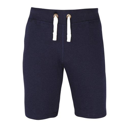 AWDis - Pantalones Cortos Lisos Gruesos Modelo Heavyweight - Gym/Running/Verano (Pequeña (S)) (Marino Frances)