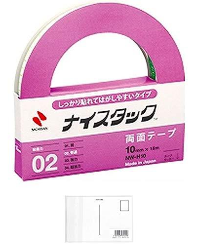 ニチバン 両面テープ ナイスタック しっかり貼れてはがしやすいタイプ 10mm NW-H10 + 画材屋ドットコム ポストカードA