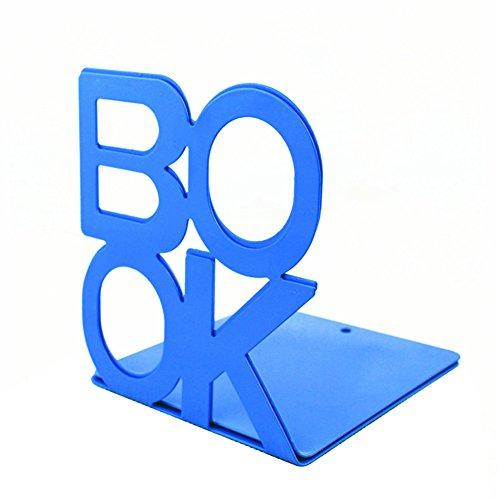 1 paar boekenkasten voor planken, metalen boekenkastjes boekhouders Organisatoren Innovatieve briefpapier opslagboeken Blauw