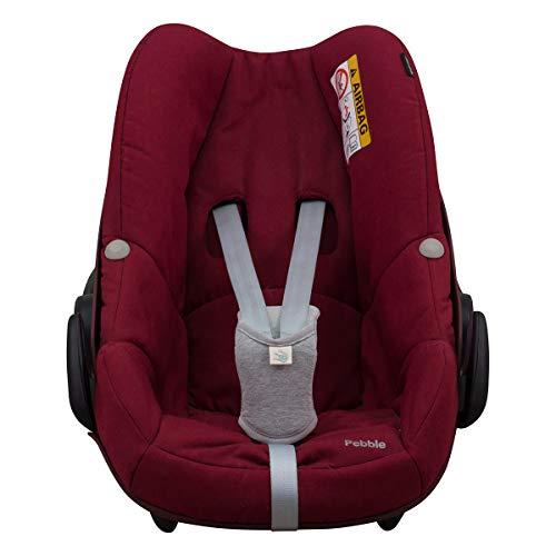 Schrittpolster, UNIVERSAL, für Babyschale Gruppe 0 z.B. kompatibel mit Maxi-Cosi, Römer Janabebe® (GREY STONE)