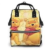 Wickeltaschen-Rucksack – Winnie Pooh Multifunktional Wasserdicht Reiserucksack Mutterschaft Baby Wickeltasche