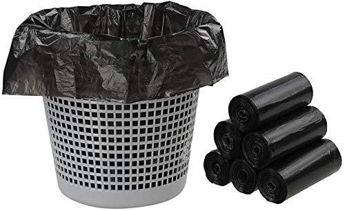 Cfbcc Haushaltsküchenmüllsack 1,5 Gallonen Kleiner Müllsack Caddie Bucket Liner schwarz 6 Rollen / 150 Zählung