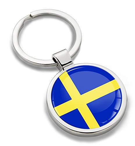 Biomar Labs® 3D Metaal Zweden Nationale Zweedse Vlag Sleutelhanger Sleutelhanger Accessoires Mannen Vrouwen Sleutelhanger Gift KK 254