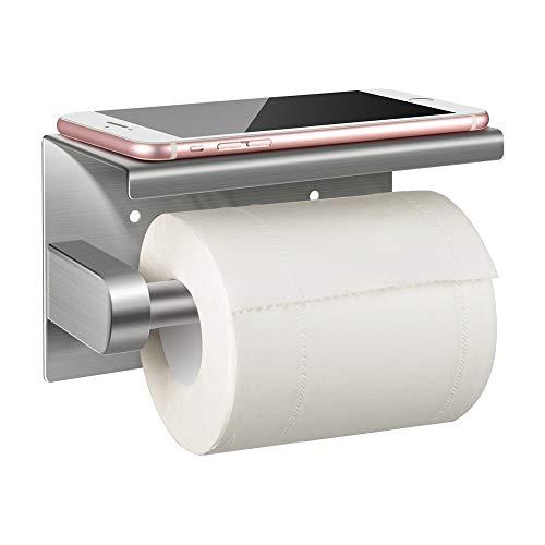 Jelife Toilettenpapierhalter ohne Bohren Klopapierhalter Edelstahl Klorollenhalter Selbstklebend,für Küche und Badzimmer
