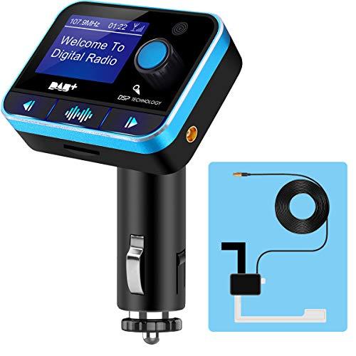 Viviance Auto Bluetooth Handsfree Dab Digitale Radio U Disk TF-kaart Aux RDS met USB-laadpoort Radio + Antenne
