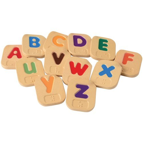Constructive Playthings Braille Alphabet Uppercase and Lowercase Letter Tile 26 pc. Set