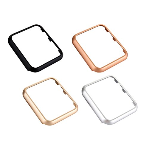 4 stücke Uhren Schutzhülle stoßfest und bruchsicher uhrengehäuse schutzfolie schutzhülle case stoßstange für Apple Watch iwatch (38mm)