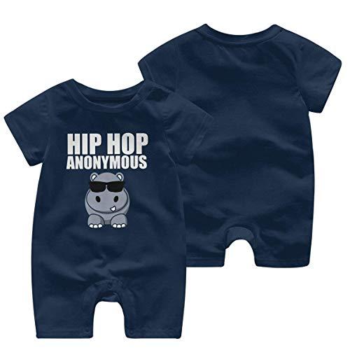 Newborn Infant Baby Girls Boys Bodysuits Hip Hop Funny Hippo Cotton Short Sleeve Infant Clothing