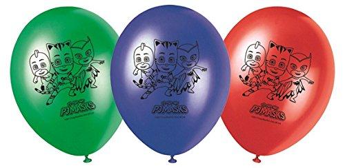 ILS I LOVE SHOPPING Palloncini in Lattice 27 cm - 8 Pezzi per Festa Compleanno (Superpigiamini Pj Mask, Palloncini in Lattice)