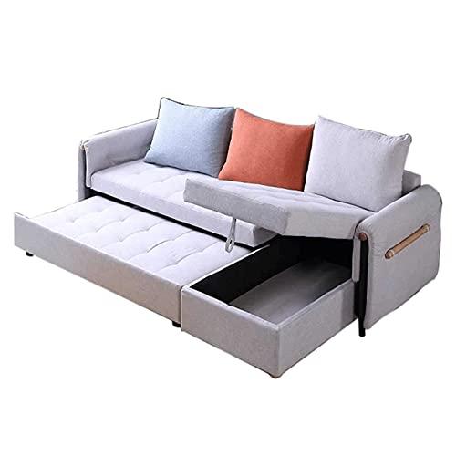 HMBB Sofá de Esquina/sofá Cama/salón de 3 plazas en una Hermosa Tela Monolith con Cama extraíble y Gran Espacio de Almacenamiento for Sala de Estar/Dormitorio