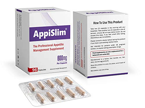 AppiSlim Appetite Suppressant Pills for Weight Loss (Women and Men) - Natural...