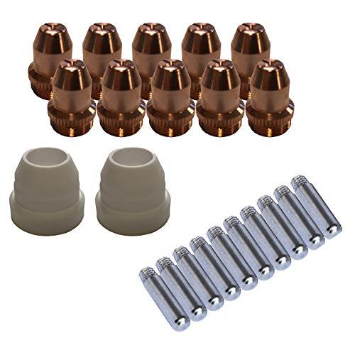 Lotos LCS22 Plasma Cutter Consumables Sets for Brown Color LT5000D and Brown Color CT520D (22 Pieces)