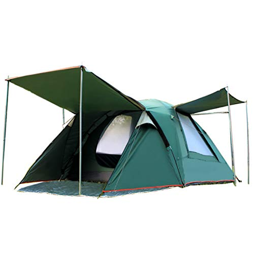 ZHJLOP Tente Une Chambre à Coucher Double Couche Tente de Plage de Camping de Haute qualité 3-4 Personnes avec Une Paire de tringles à Rideaux