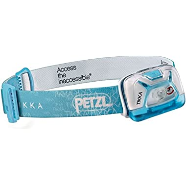 Petzl - TIKKA Headlamp, 200 Lumens, Standard Lighting, Blue