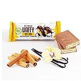 Wafer proteico Protein Waffy gusto Vaniglia e Cannella. Formato da 35gr.