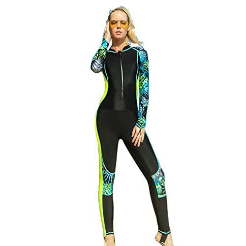 YuanDian Hombre Mujer Traje De Buceo Surf Mono Proteccion Solar Traje De Manga Larga Piscina Windsurf Traje De Baño Natacion Snorkel Traje Submarinismo Bañador Ropa Buceo Amarillo Fluorescente M