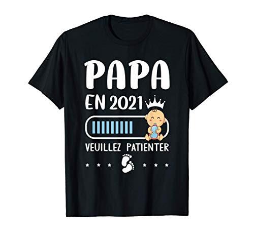 Annonce Grossesse Papa Originale Cadeau Rigolo Futur Papa T-Shirt
