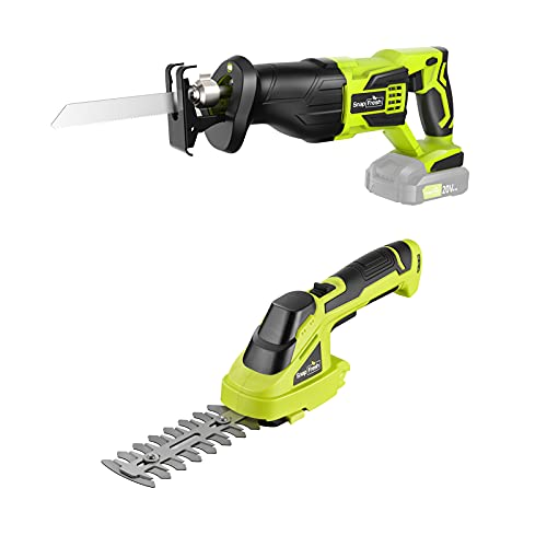 Cordless Grass Shears with Cordless Reciprocating Saw
