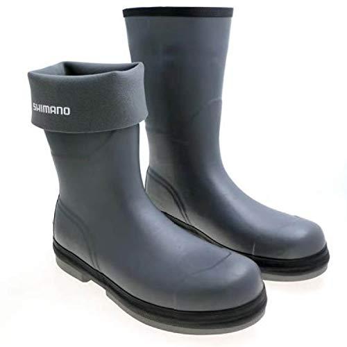 SHIMANO Evair Rubber Boots Fishing Gear, Gray, 9