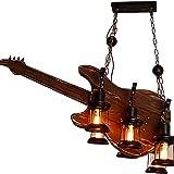 YALTOL 6 Luces Araña Retro Industrial, E27 Antique Loft Laptelier, Guitarra Creativa Candle Chandelier Linterna, Restaurante Cafe Steampunk Araña Decorativa