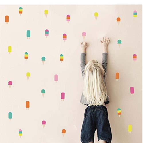 Colorido popsicle fondo de pantalla verano helado habitación de los niños sala de estar pegatinas pared adhesivas decoración de la baldosa de la puerta 30 * 46cm
