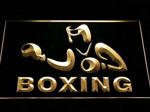 ADVPRO Boxing Game Fight Max 73% OFF Club Bar Beer x LED Omaha Mall 12 Neon Yellow Sign