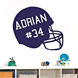 pegatina de pared pegatinas decorativas pared Número de casco de fútbol americano personalizado Sala de niños de la NFL Sala de estar Sala de juegos Habitación de niños Habitación de niños