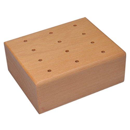 Prickelnadel-Klotz, Prickelnadelständer für 12 Prickelnadeln / Filznadeln, 7x6xH3cm