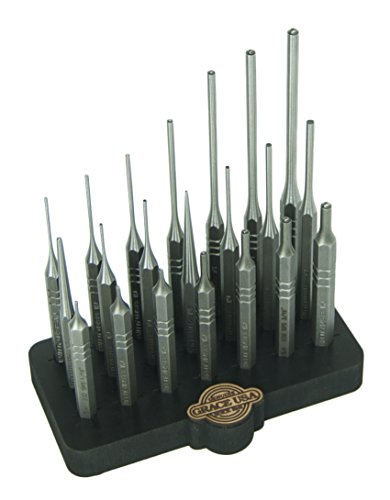 Grace USA - Steel Punch Set with Bench Block (21-Piece) - Gunsmithing - Steel Punches - 21 piece -Gunsmith Tools & Accessories