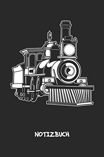 NOTIZBUCH: A5 Liniert Dampfeisenbahnfahrer Schreibblock - Notizblock 120 Seiten 6x9 inch Tagebuch für Erwachsene - Holzeisenbahn Elektrische Lok Notizheft Geburtstagszug Vintage-Fans Geschenk