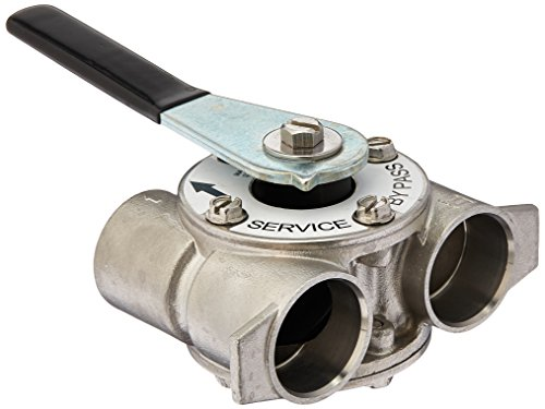 AFWFilters B004NFGQII 3/4' stainless steel bypass valve for Fleck 5600 5600sxt, quot