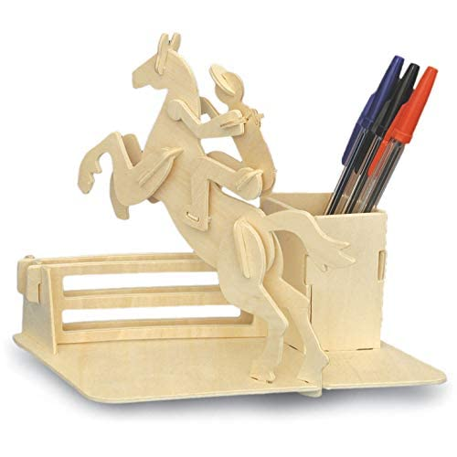 Woodcraft Construction Kit Equitazione portapenne