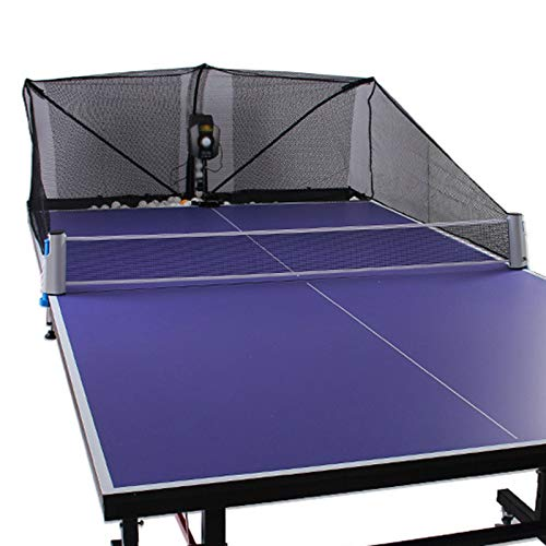 ASDQWER Robot de Tenis de Mesa, Lanzador de Bolas fantástico/Thrower/Shooter para su Mesa de Ping Pong, Robot de la máquina Ping Pong, Equipada con Control Remoto con Cable