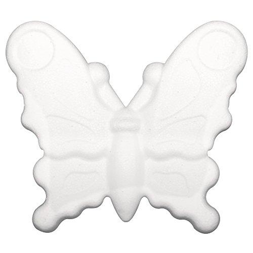 Rayher 30060000 Styropor Schmetterling, 12,5cm, flach