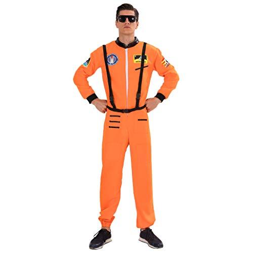 EraSpooky Disfraz de Astronauta para Hombre Traje de Astronauta Piloto Cosplay - Fiesta de Halloween Traje Divertido para Hombres Adultos