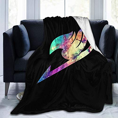 xiaoxiaoshen Anime Fairy Tail Blankets Flannel Ultra Soft Lightweight Cozy Throws Blanket Hypoallergenic Plush Bed Sofa Living Room 50'X40'