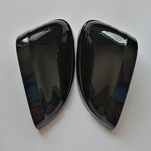 SXHNNYJ Black Side Wing Mirror Caps,for Audi A4 A5 B9 2017 2018 2019 S4 S5 RS5 allroad Quattro Replace Covers (Glossy Pearl Black)