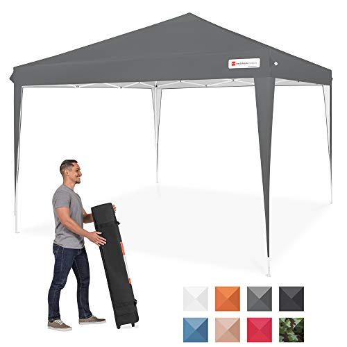 Best Choice Products 10x10ft Outdoor Portable Adjustable Instant Pop Up Gazebo Canopy Tent w/Carrying Bag - Dark Gray