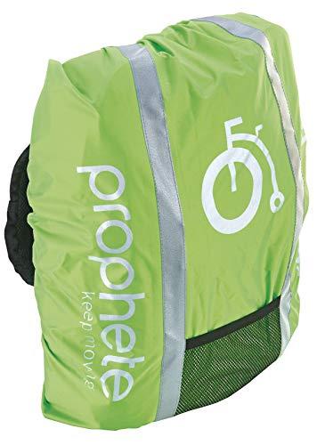 Prophete Reflexüberzug für Fahrradkörbe, Schulranzen oder Rucksäcke, grün, one Size