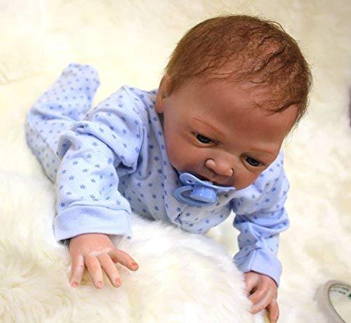 ZIYIUI Reborn Baby Junge 20 Zoll 50 cm Lebensechte babypuppen Handgemachte Silikon Vinyl Entzückende Reborn Puppen Junge Neugeborenes Magnetisches Spielzeug Neugeborenen Geschenke