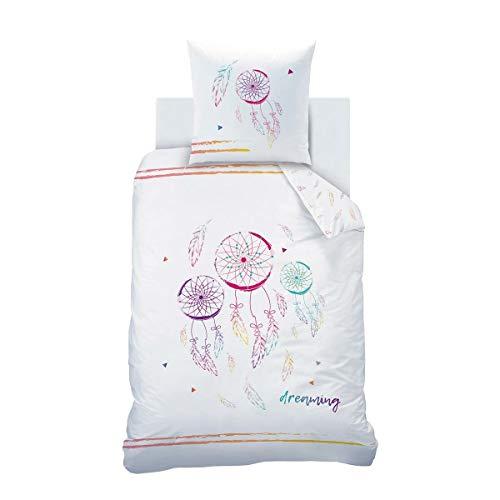CTI Renforce Bettwäsche Traumfänger 1 Bettbezug 135 x 200 cm + 1 Kissenbezug 80 x 80 cm