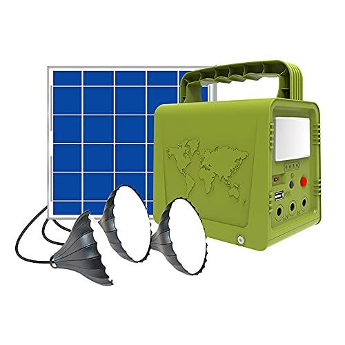 HBHBYNYN Power Station Portatile, 42WH. Generatore Solare con Pannello Solare E Luci da Campeggio, for CPAP. Eutdoor Adventure Load Trip Camping Emergency (Color : Green)