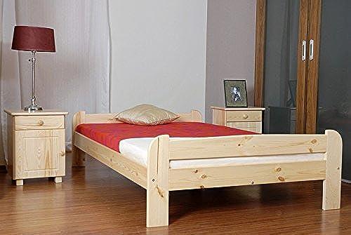 Kinderbett Jugendbett Kiefer Vollholz massiv natur A11, inkl. Lattenrost - Abmessung 120 x 200 cm