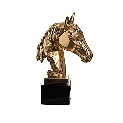 WYJBD decoración de Metal, esculturas Inicio del Escritorio de Oficina Caballo al Color de éxito: el Oro