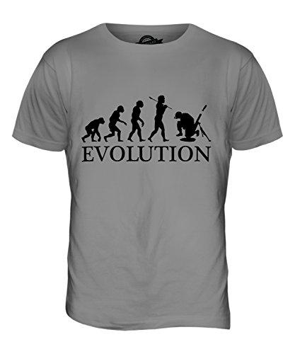 Candymix Mörser Geschütz Soldat Mörtel Evolution des Menschen Herren T Shirt, Größe 2X-Large, Farbe Hellgrau