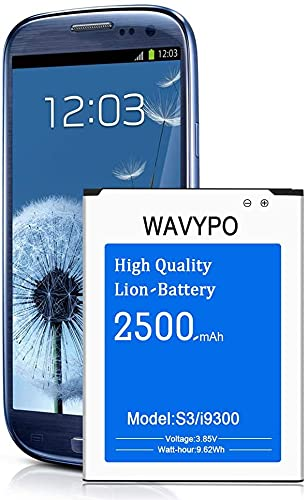 Galaxy S3 Akku, 2500mAh Li-Ion Akku für Samsung Galaxy S3 I9300, I9305 LTE, I535, T999, I747, L710, nicht für S3 Mini