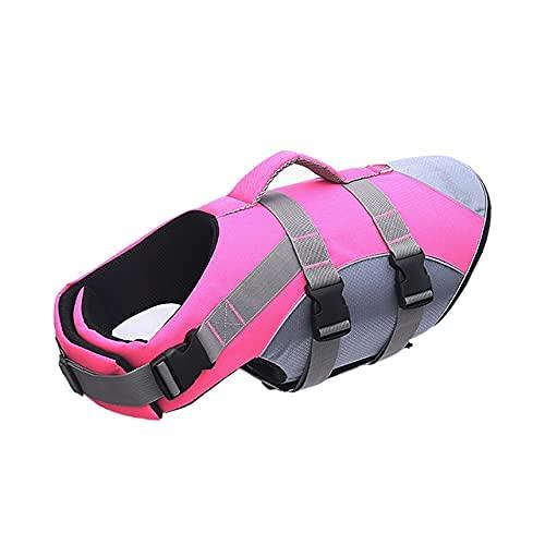 YDSZ Perro Salvavidas Chaleco Chaleco Sirena Seguridad Traje de baño preserva Ajustable buoyancia Durable Perros Mascotas Ripstop cinturón Pink-M