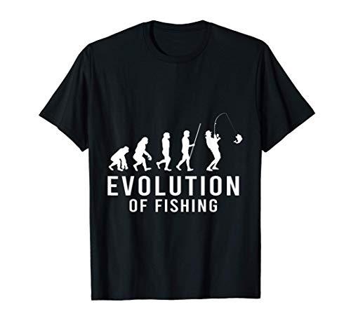 Evolution Angler Angeln Angelsport Angelrute Köder See T-Shirt