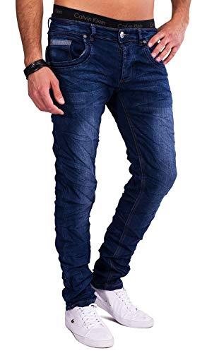 ArizonaShopping Herren Jeans Hose Indigo Blue Stretch Used Helle Waschung, Farben:Blau, Größe Jeans:W31