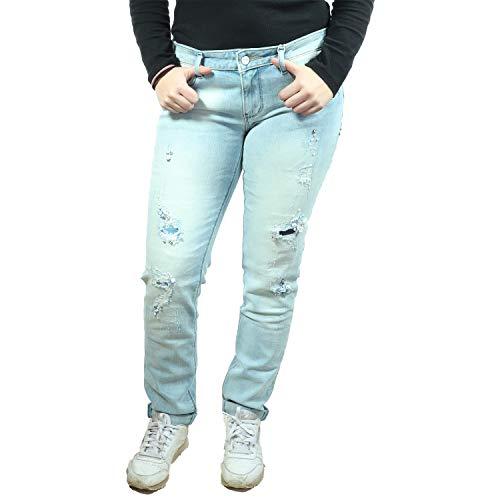 Fracomina Damen Jeans Shape UP Skinny Pant FR18SPJTINA4 (Broken Bleached, 30)